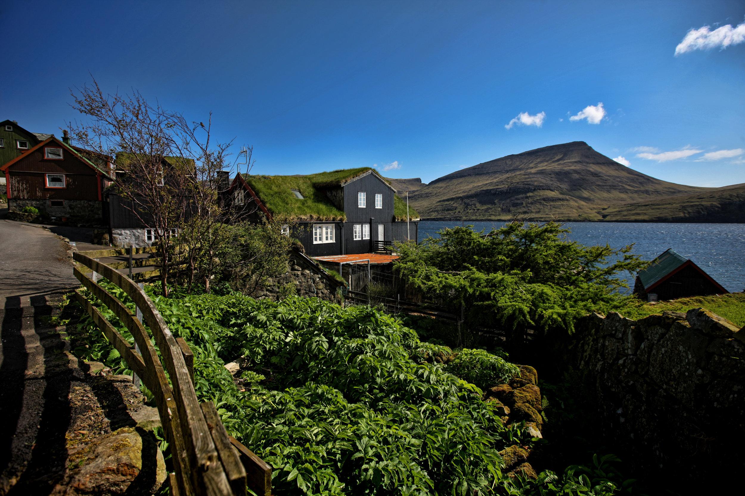 Urtagarður í Bø. Mynd: Ólavur Frederiksen, Faroephoto.