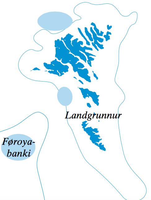 Gýtingarøki hjá toski á landgrunninum og á Føroyabanka. Mynd: Savnsmynd