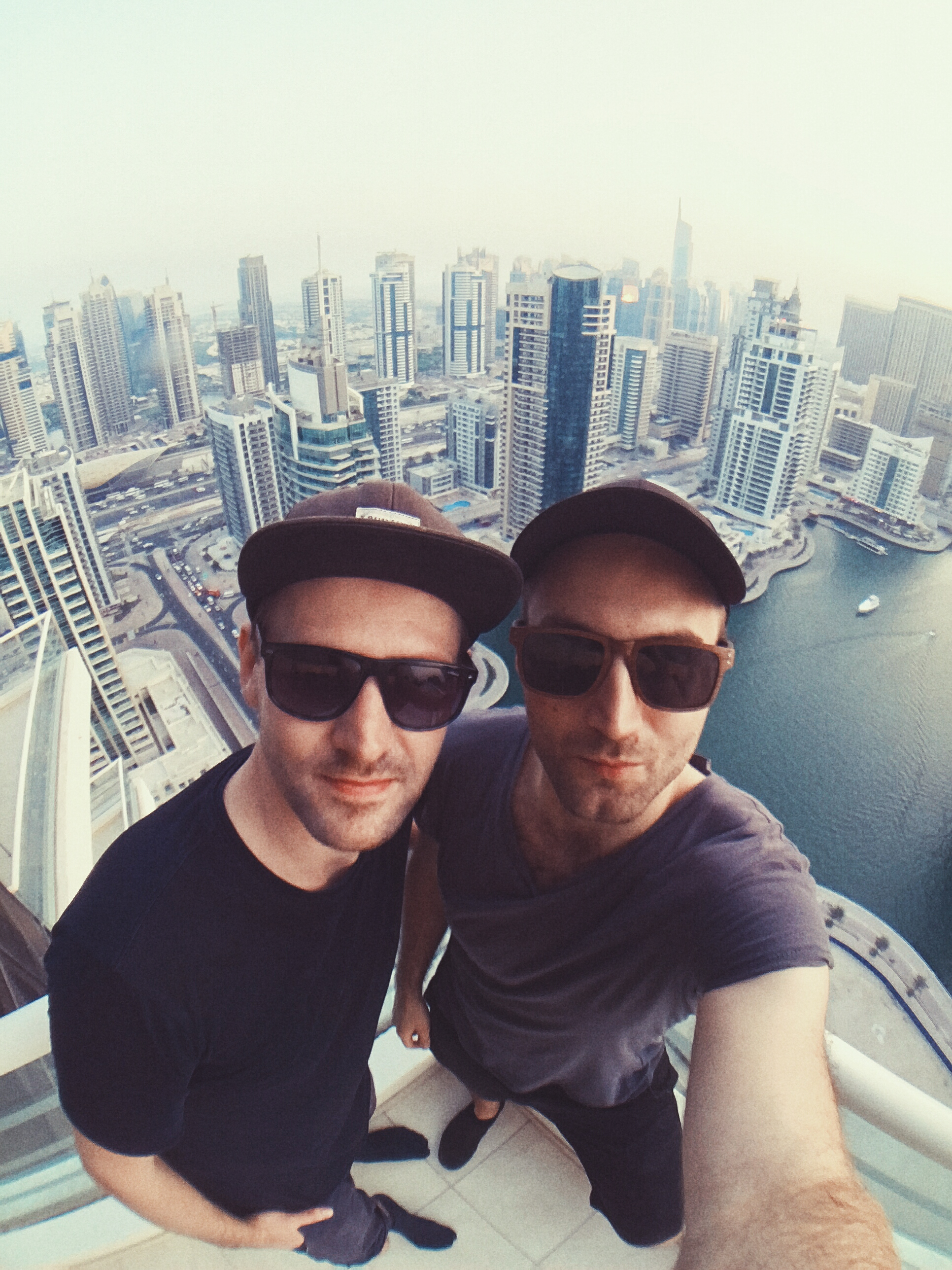 Photo shoot in Dubai. This is me and my right hand man  Magnus Wikström .