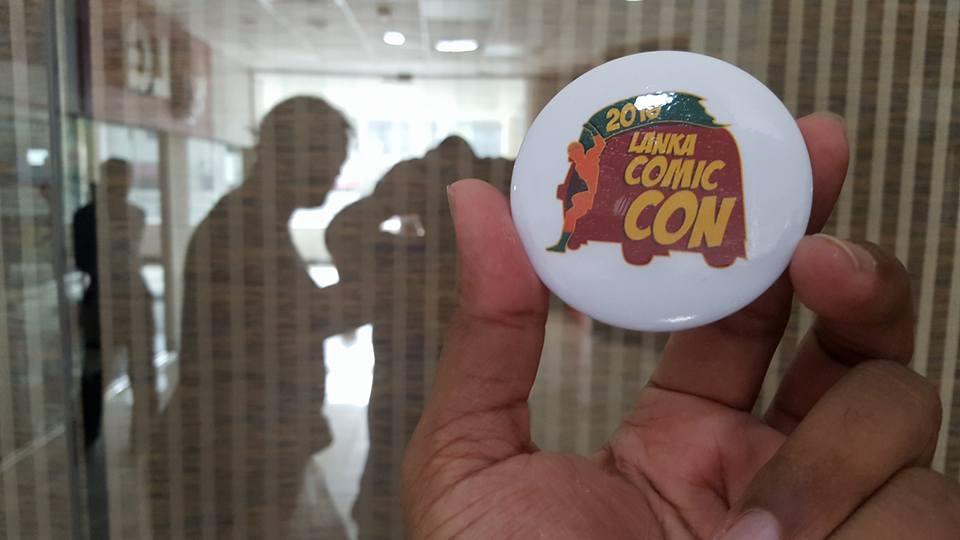 Limited ed Lanka Comic Con badges, by Anim8