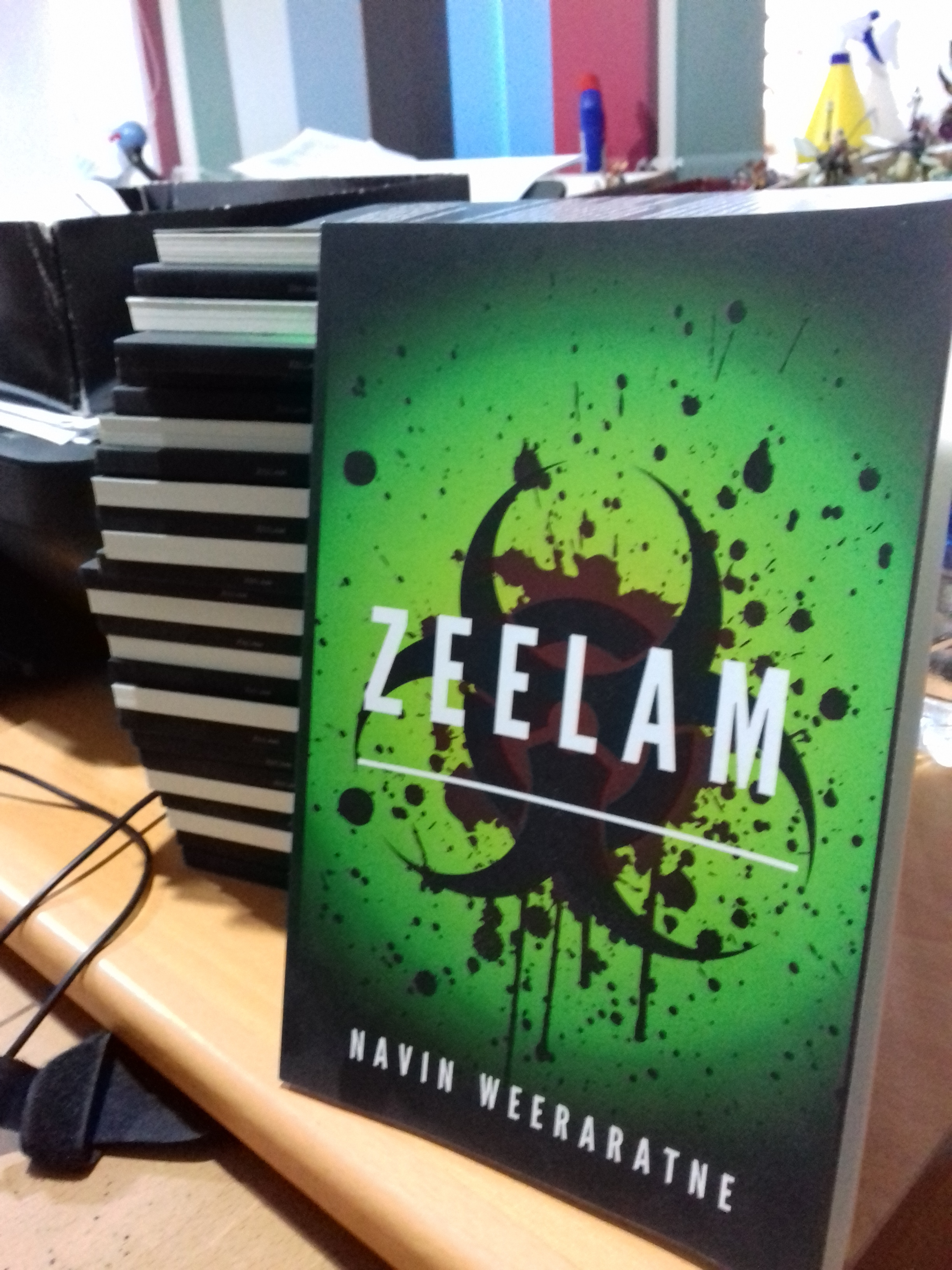 The Fairway shortlisted, Sri lankan zombie novel, 'Zeelam' will be available at the Geek Store in October.