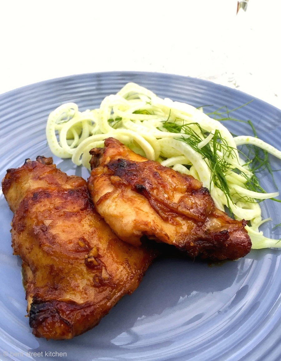 Sweet and Sticky Barbeque Chicken with Shaved Fennel