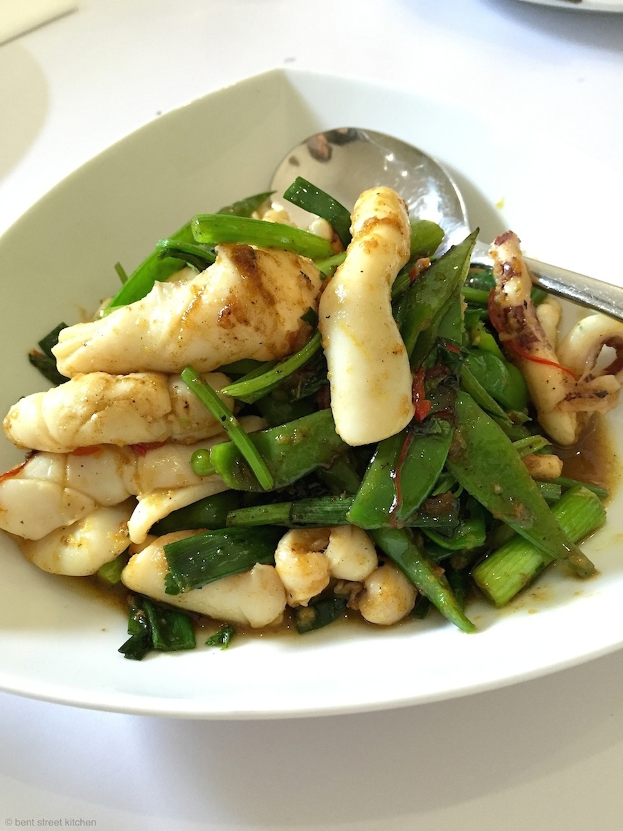 SA squid stir-fried with Chinese celery and spices - my favourite!