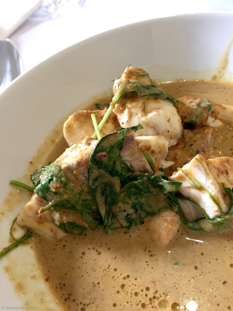 Woops. Too yummy I forgot to take a photo first.Melt-in-your-mouth yellow curry of SA snapper.
