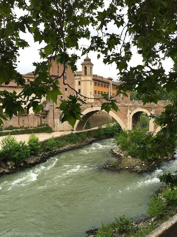 The mighty Tiber river and the bridge that takes you to Trastevere, my favourite area in Rome.