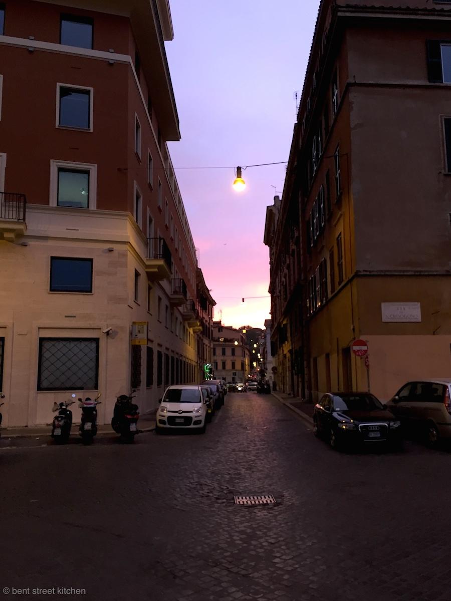 Dusky skies in Trastevere