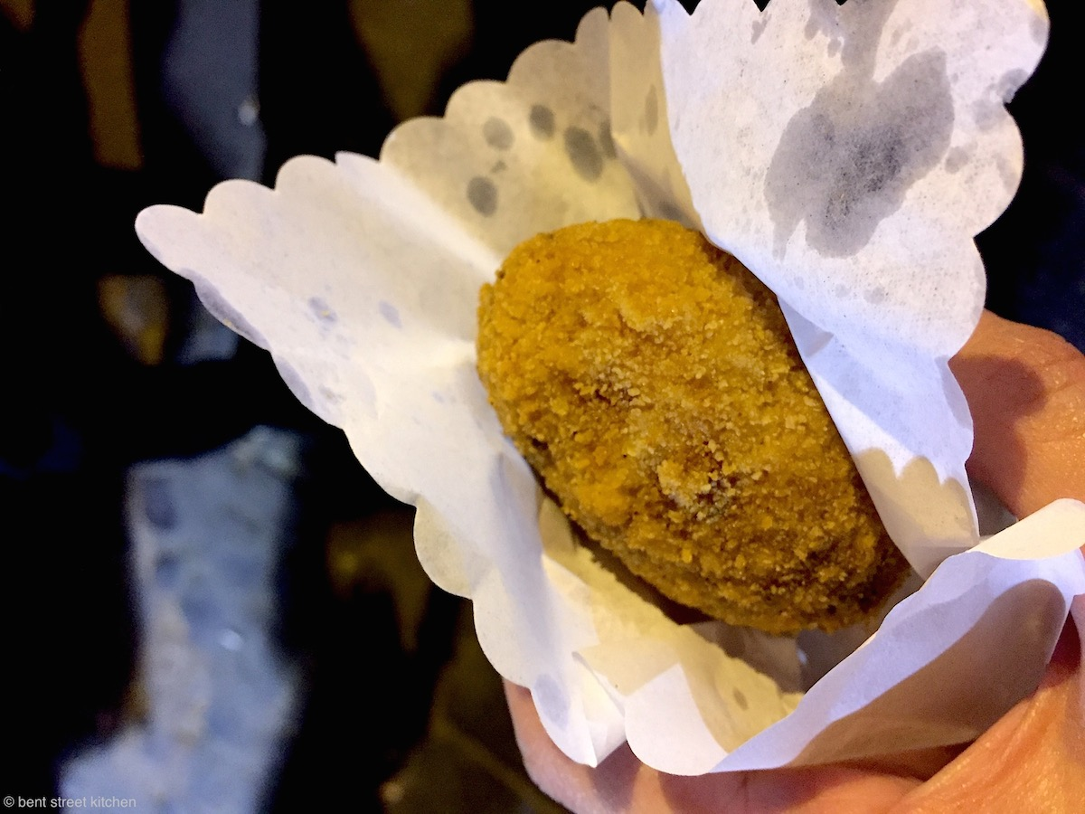 Suppli - Rome's favourite street-food and their version of arancini from I Suppli