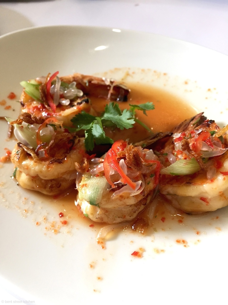 Grilled SA prawns with pomelo salad