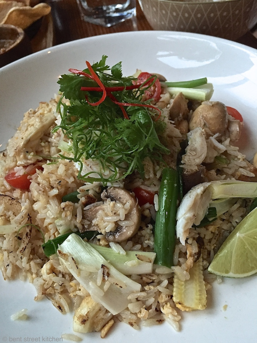 TFR - truffle fried rice with crab meat & mushrooms