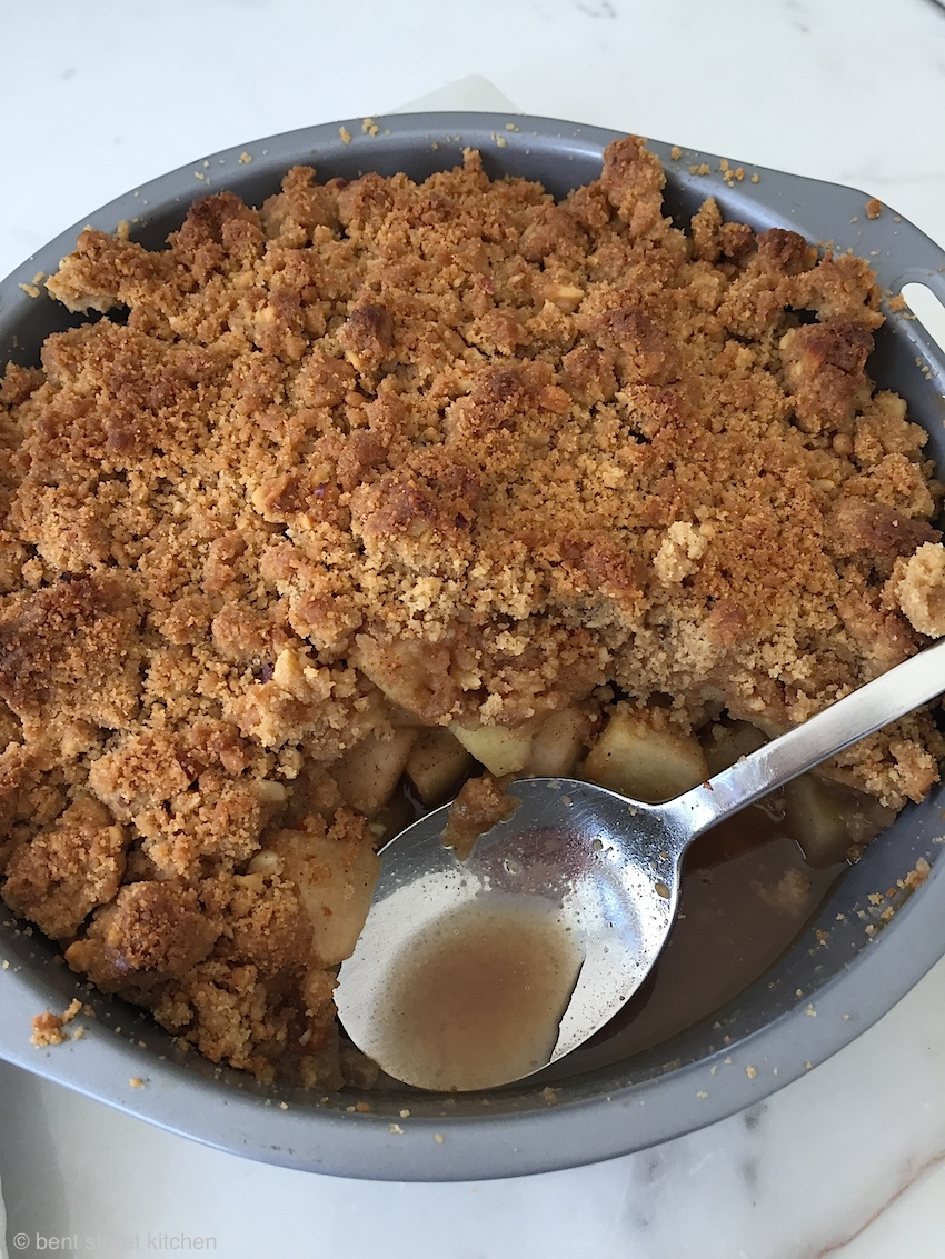 apple crumble with cheese by bent street kitchen