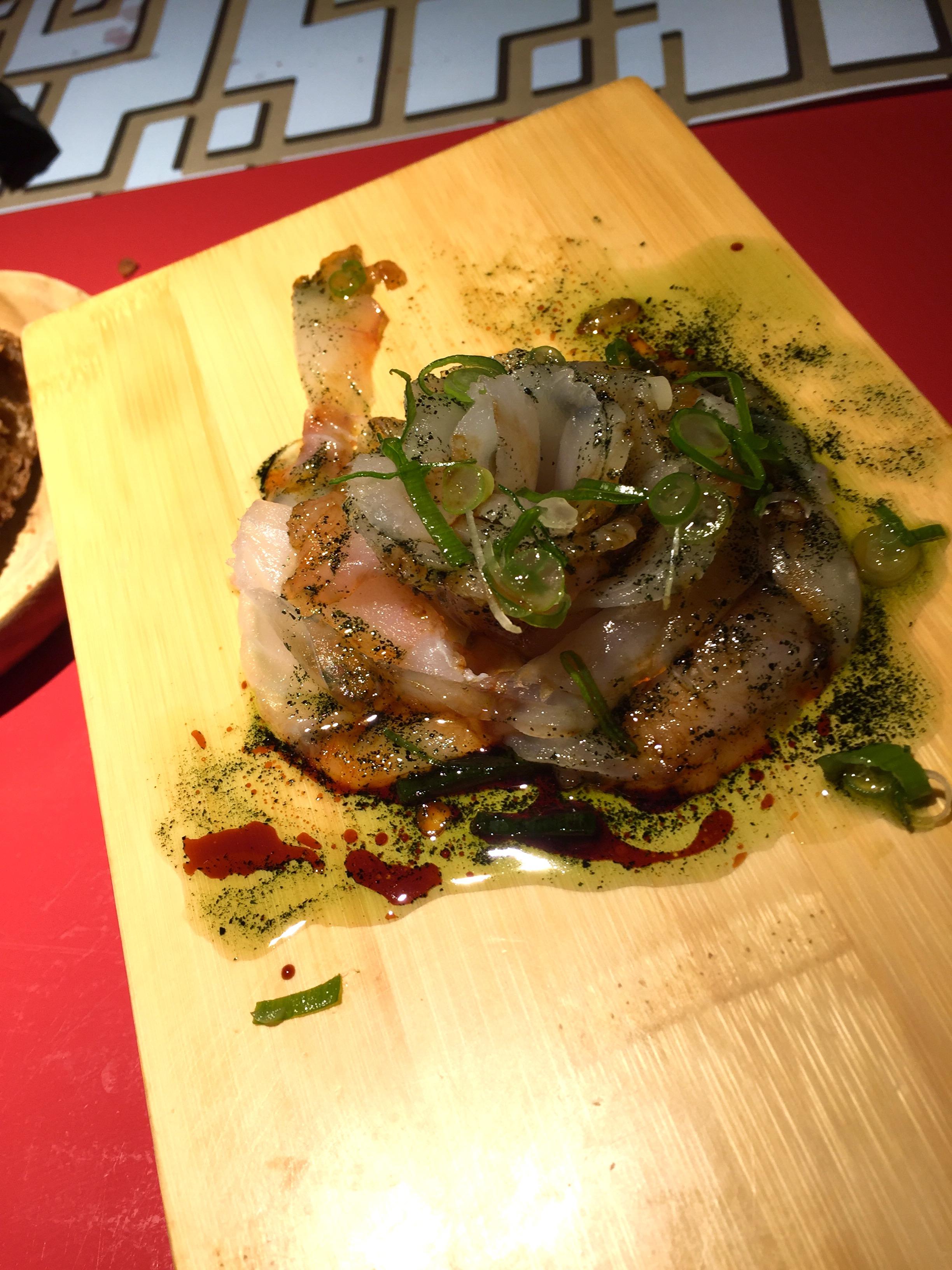 San Martino (fish sashimi) with usuku