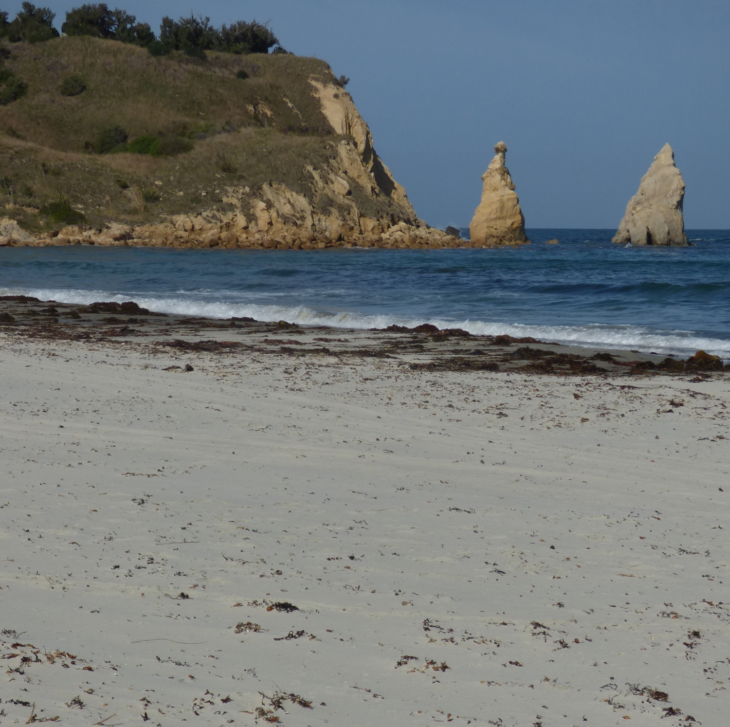 Karitane Beach is punctuated at the northern end by a historically important point.