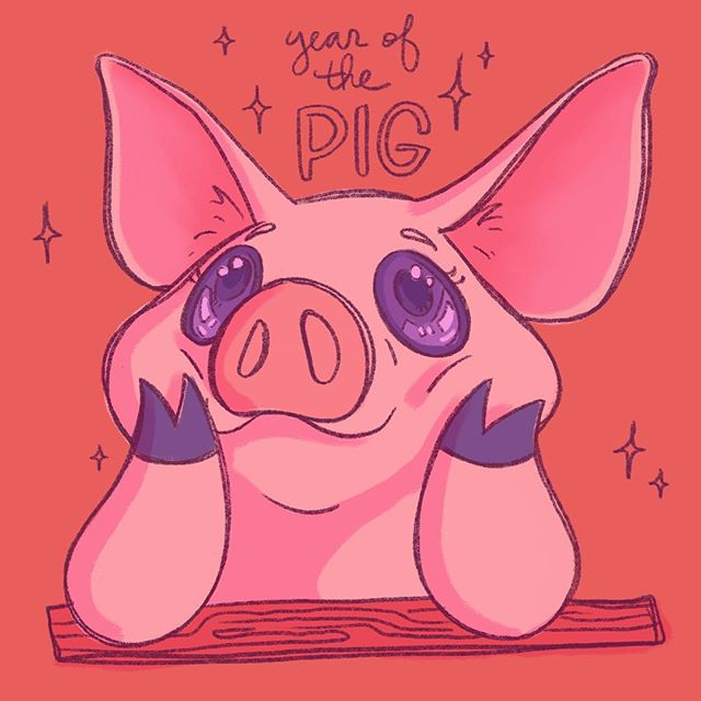 """""""these pigs are earnest and lovable"""" hehe :3 uwu did i do it right?"""