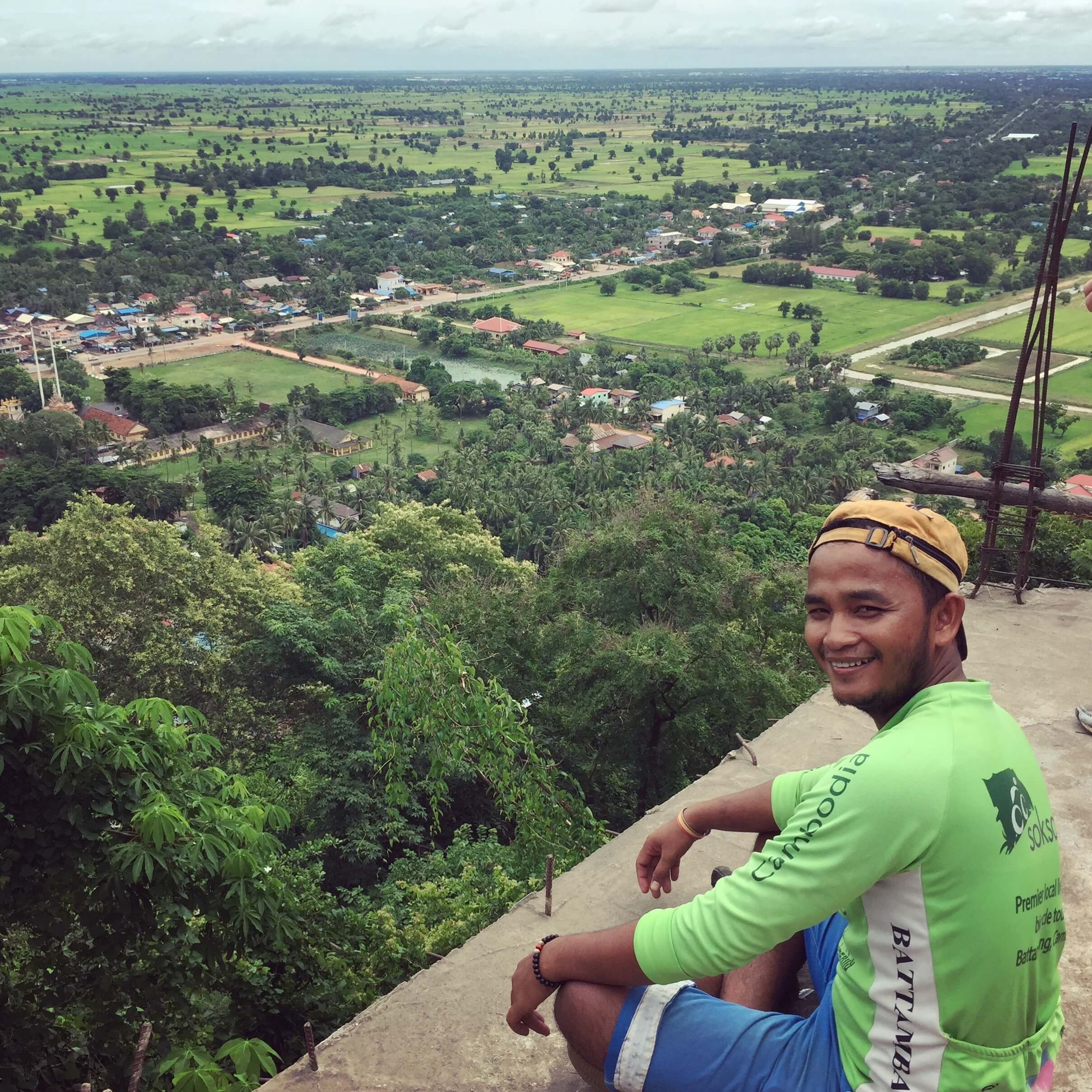 Mony at the top of phnom Sampov