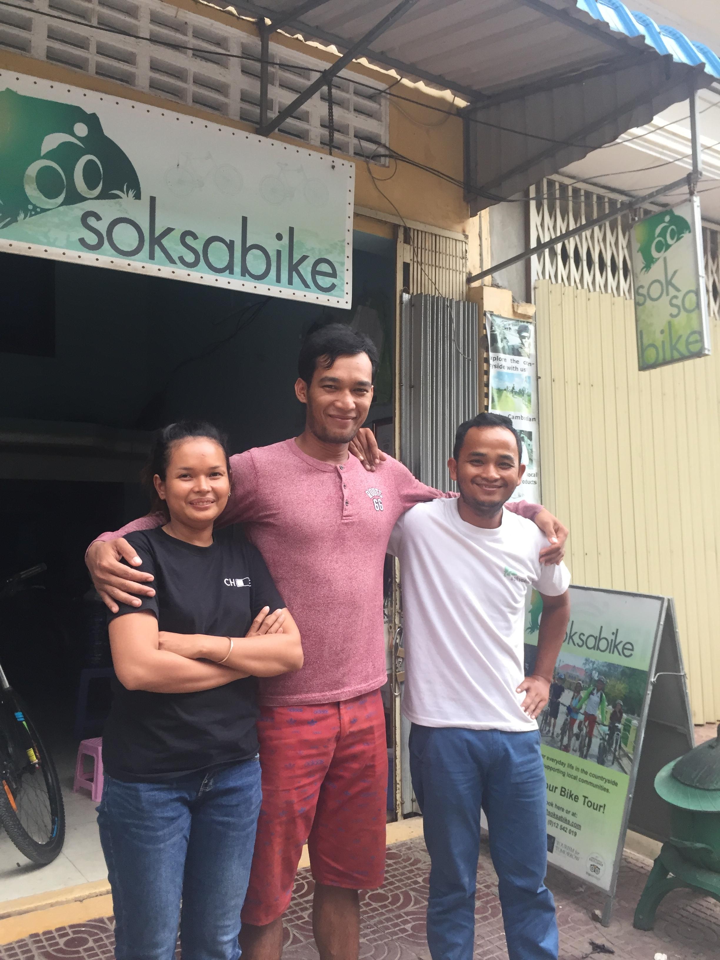 Mony, Kanha, and Phalla - Soksabike's new owners