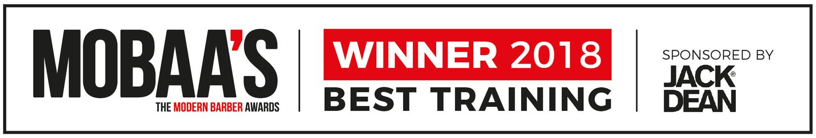 Winner 2018 Best Training at MOBAA's The Modern Barber Awards