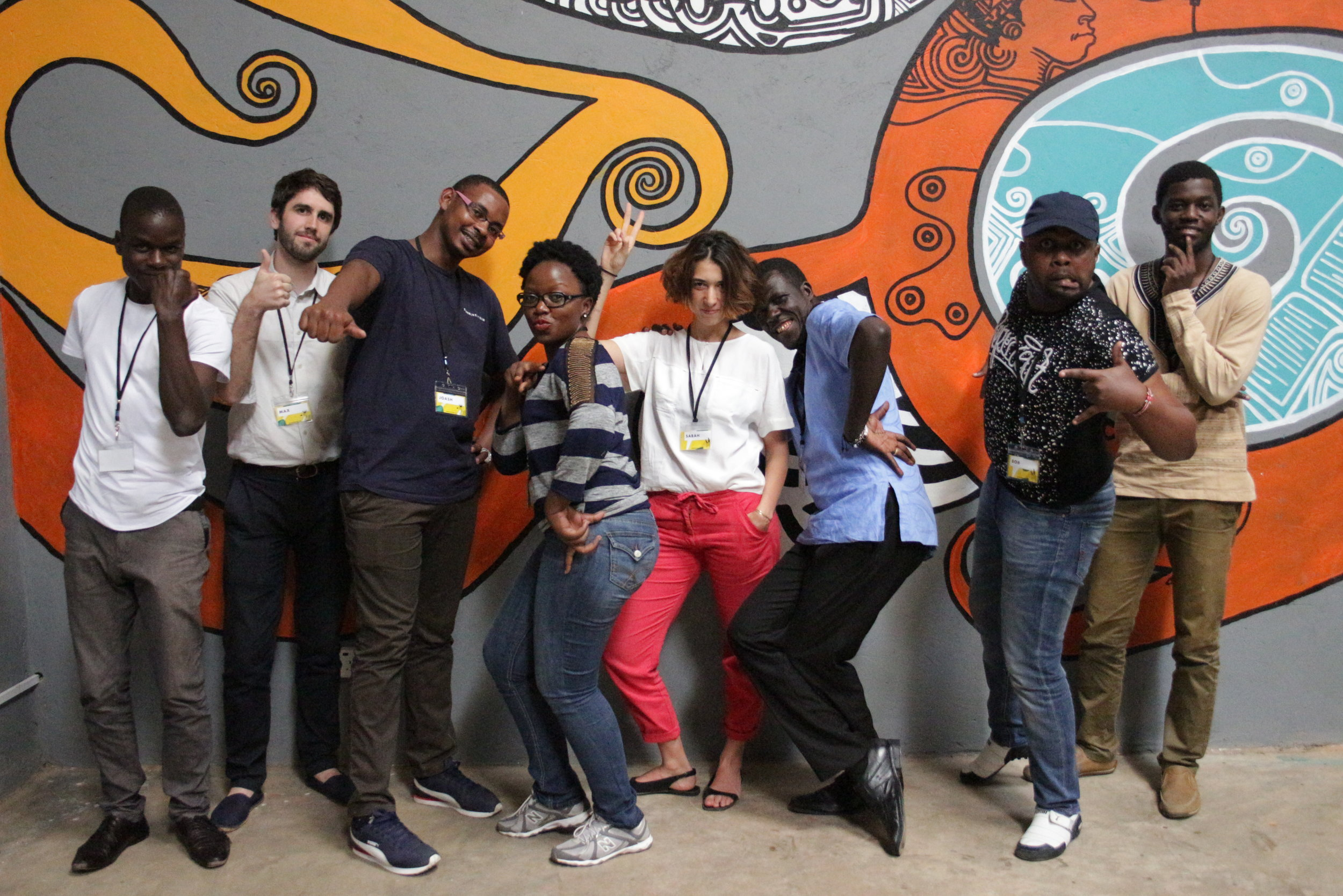 The team consisted of two CHRIPS representatives Joash and Gabriel, they were matched with a creative team headed up by DATA4CHANGE alumni Max. Their team consisted of Sabah (graphic designer from Egypt), Clement (developer from Kenya), Joy (data researcher from Uganda), Bob (journalist from Kenya), and Patrick (data journalist from Uganda).