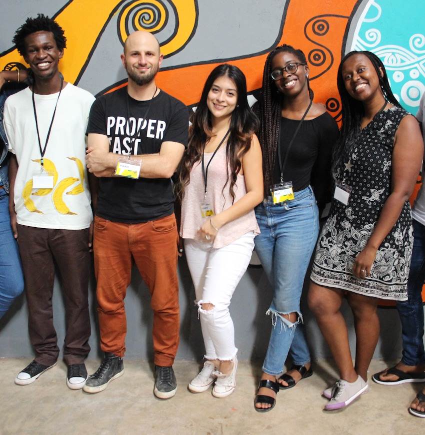The team consisted of two CSO representatives, who were matched with a creative team headed up by DATA4CHANGE alumni Piero. Their team included Kevin Karanja (graphic designer from Kenya), Daniela Q. Lepiz (data analyst from Costa Rica), Omayeli Arenyeka (developer from Nigeria/US) and Wairimu Macharia (journalist from Kenya).