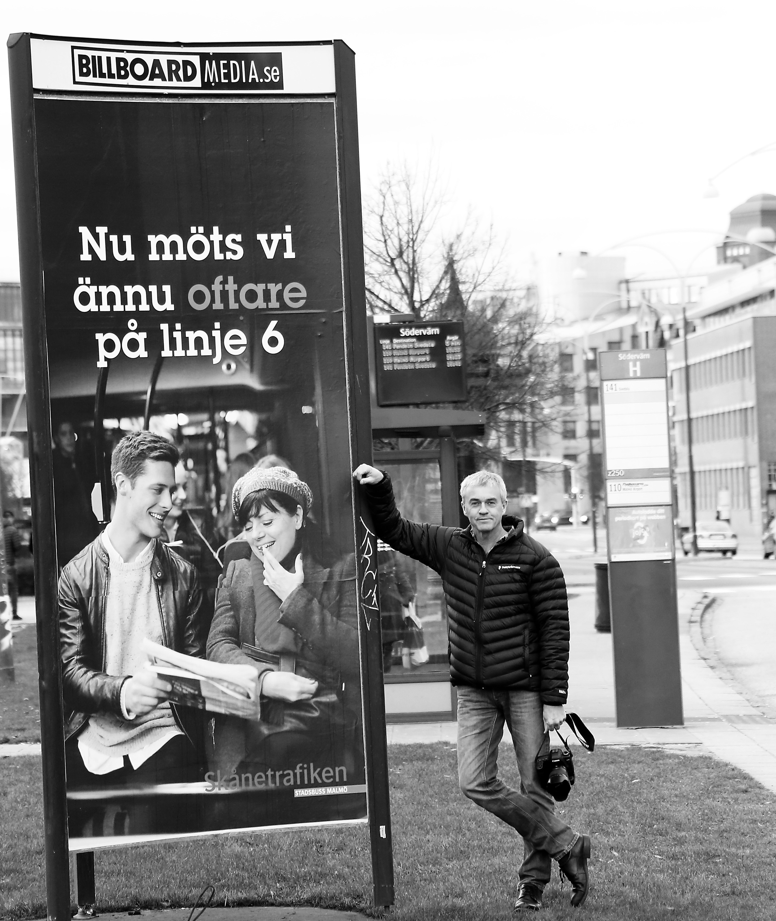 Ett oväntat möte på bussen - positivt och spännande. Passagerare som du och jag, en vanlig dag! Foto för NOBINA i Malmö