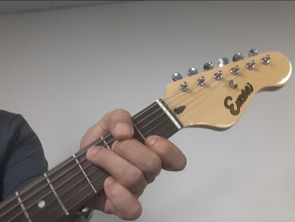 Open C chord guitar