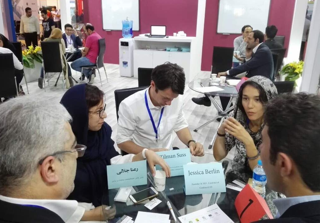 strategy coaching at the elecomp technology exhibition in tehran, iran (photo: tac accelerator)