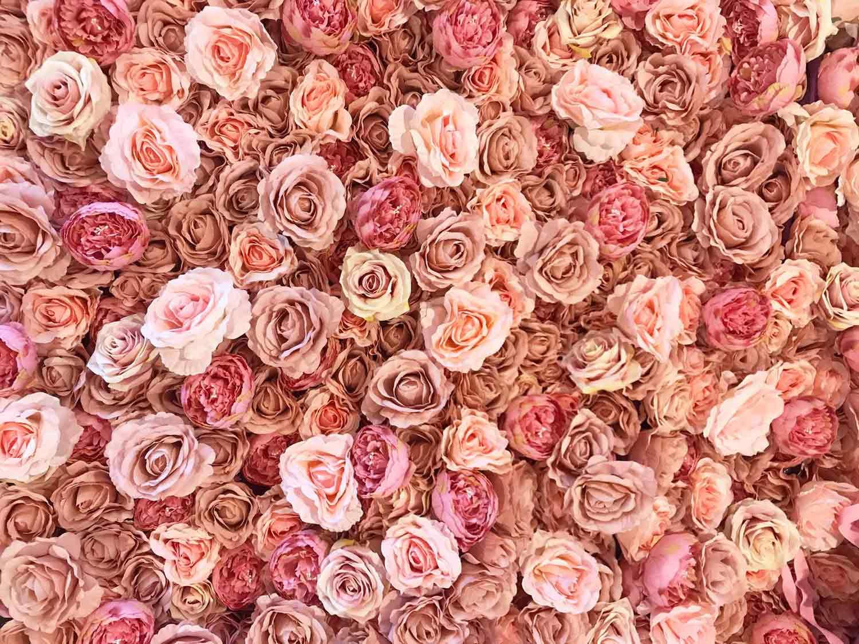 Flower wall Dusty pink