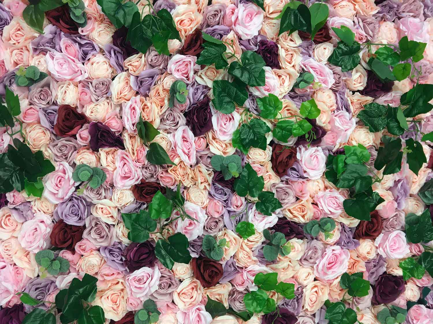 Flower wall Pink ivy