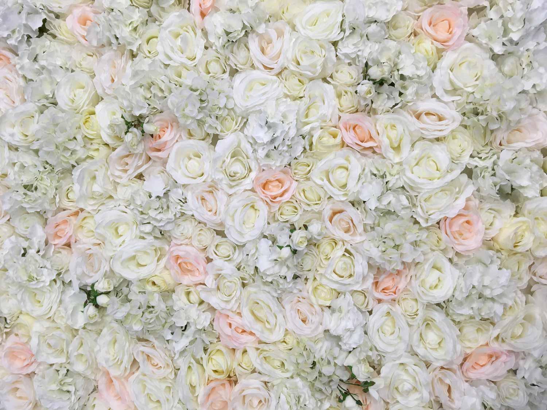 Flower wall White blush