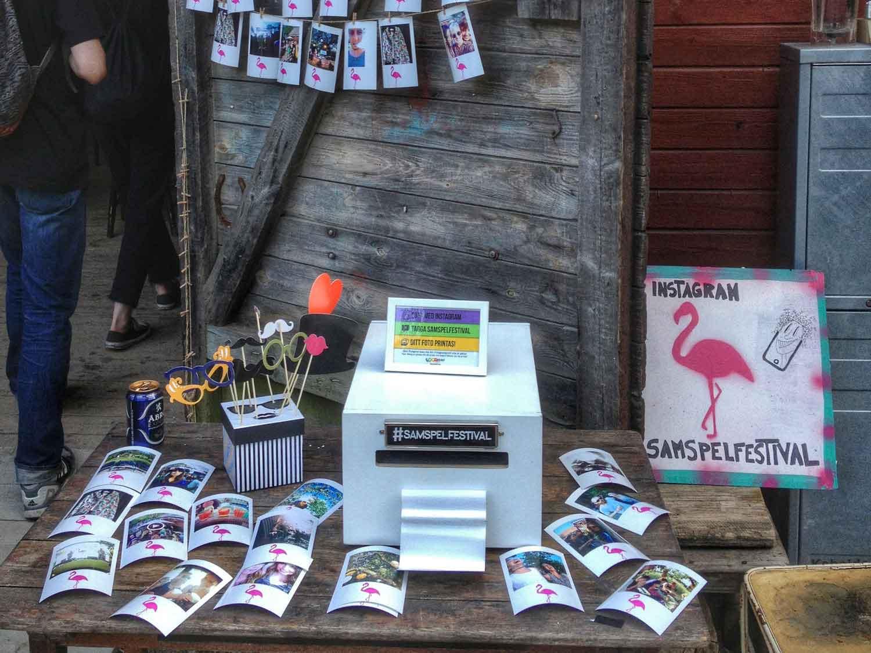 instagramprinter på festival med utskrifter