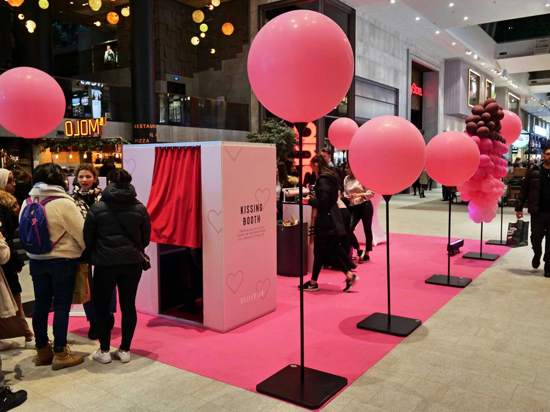 Photo booth på Gallerian under Valentines