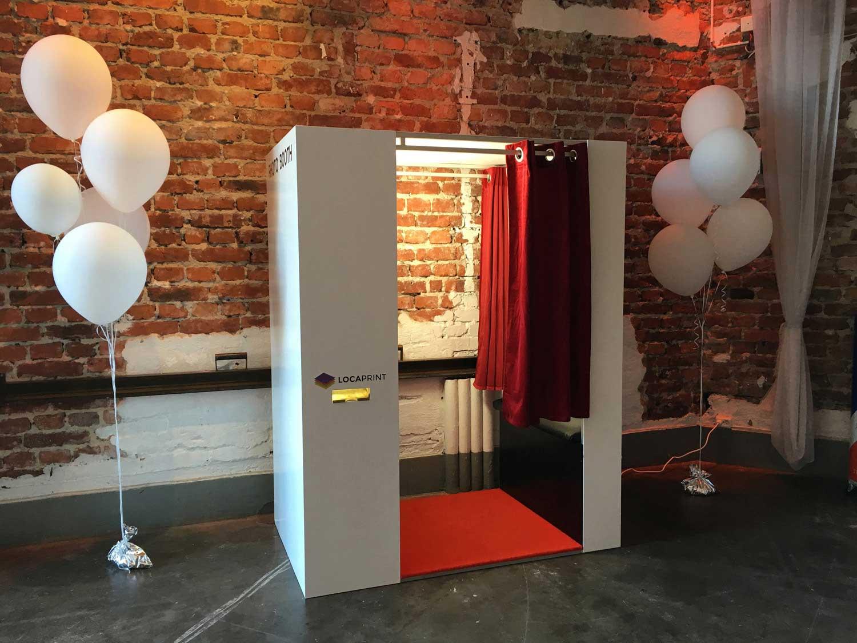 Photo booth på Skyddsrummet med ballonger