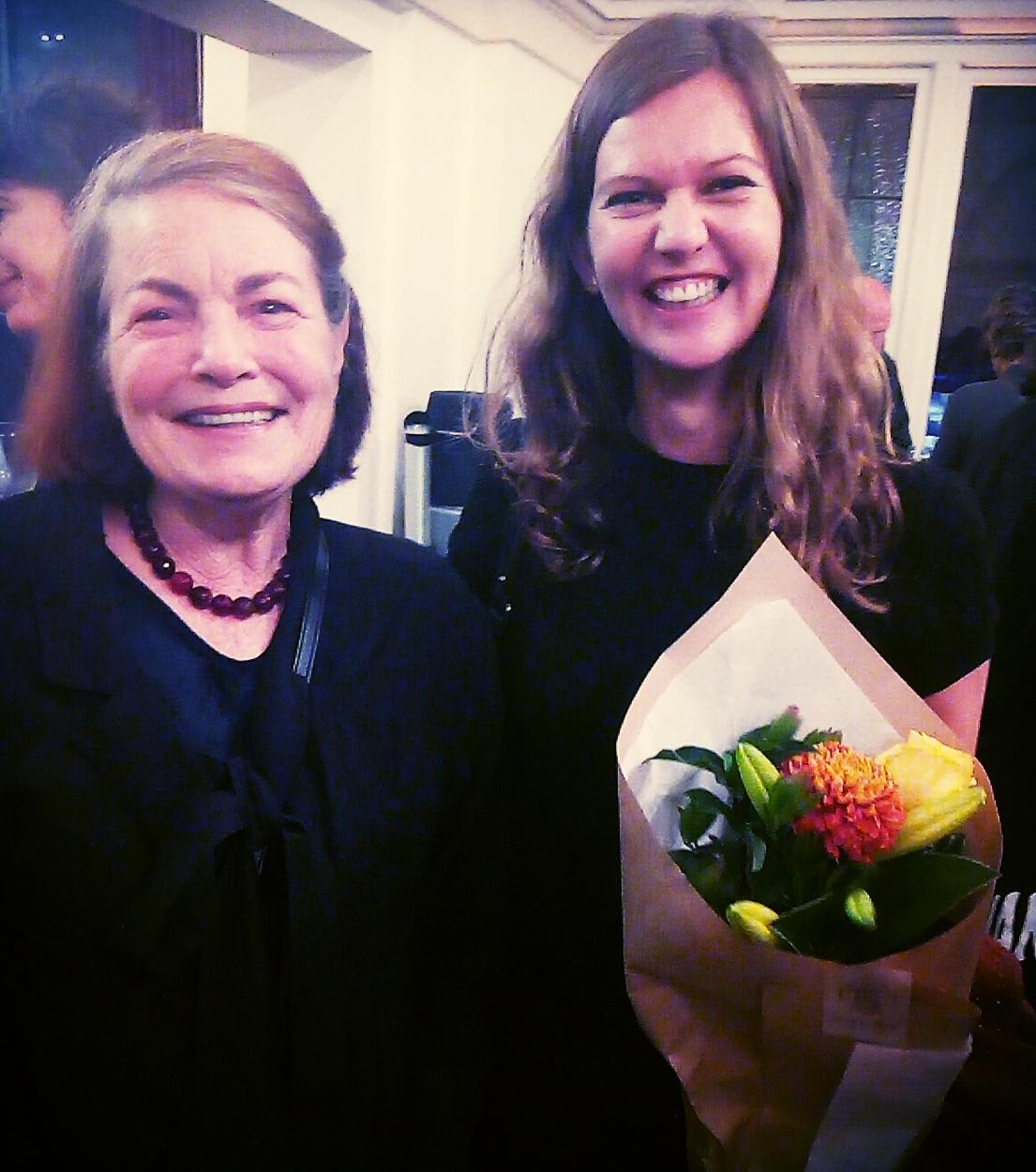 Linda & Gretchen Albrecht at the orchestra premiere