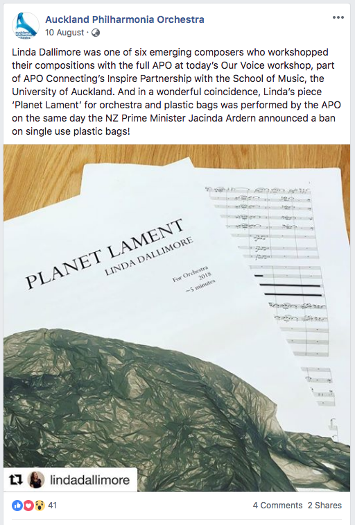 August 2018:  Grateful to hear this piece for orchestra again, after it's first workshop at Aspen Music Festival last year.