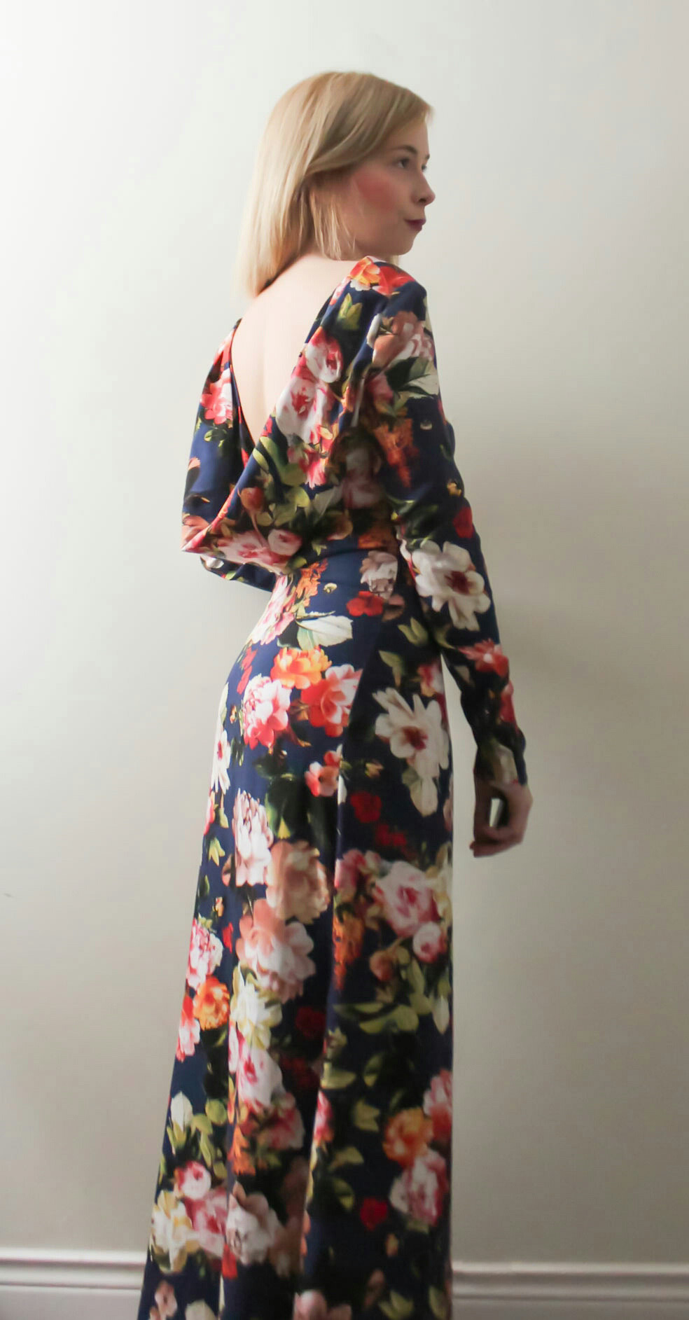 Did sew a draped back dress