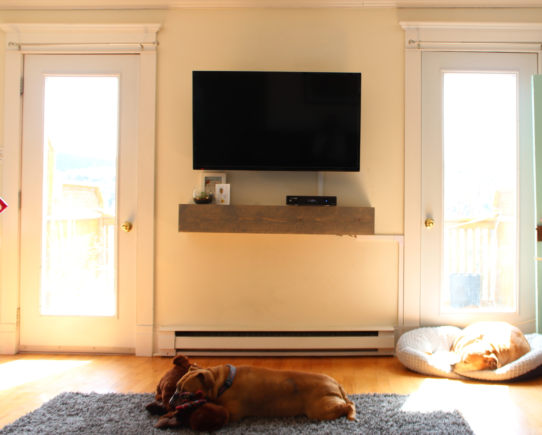 DIY Media Shelf - Calm Chaos Blog