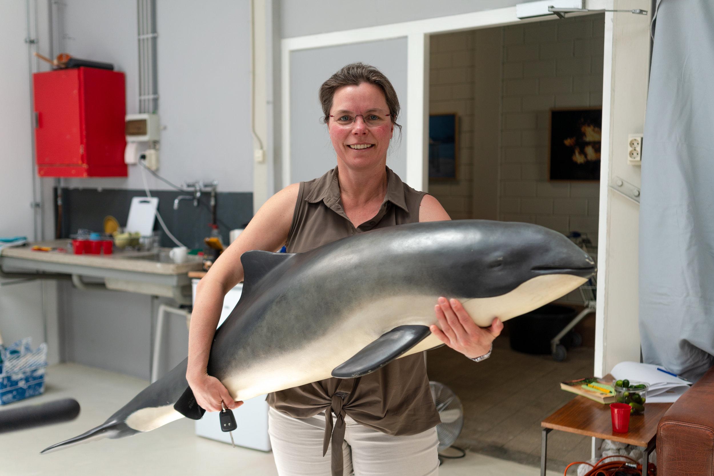 Jolanda Meerbeek van SOS dolfijn