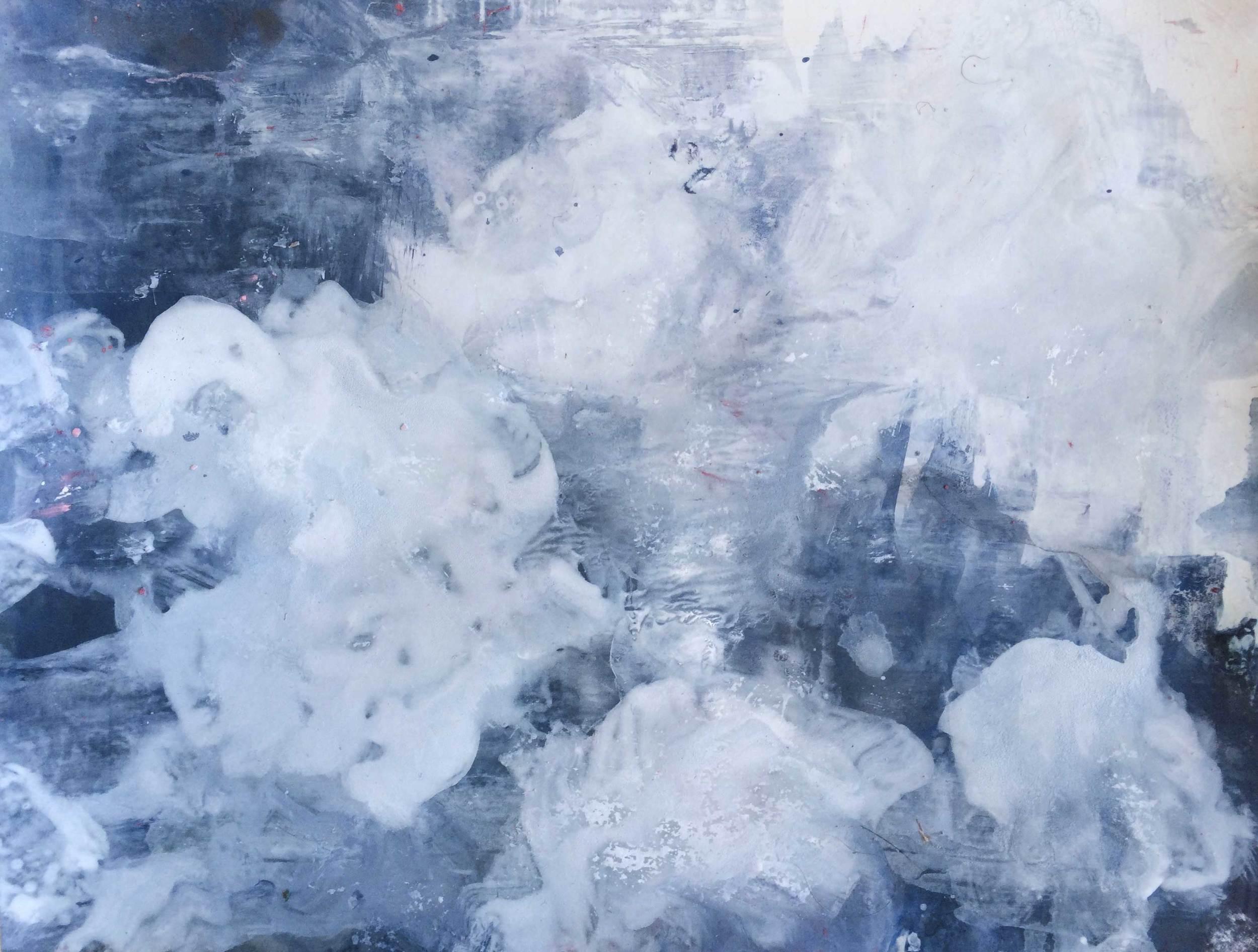 Williamstown Storm Walk III — sky series painting