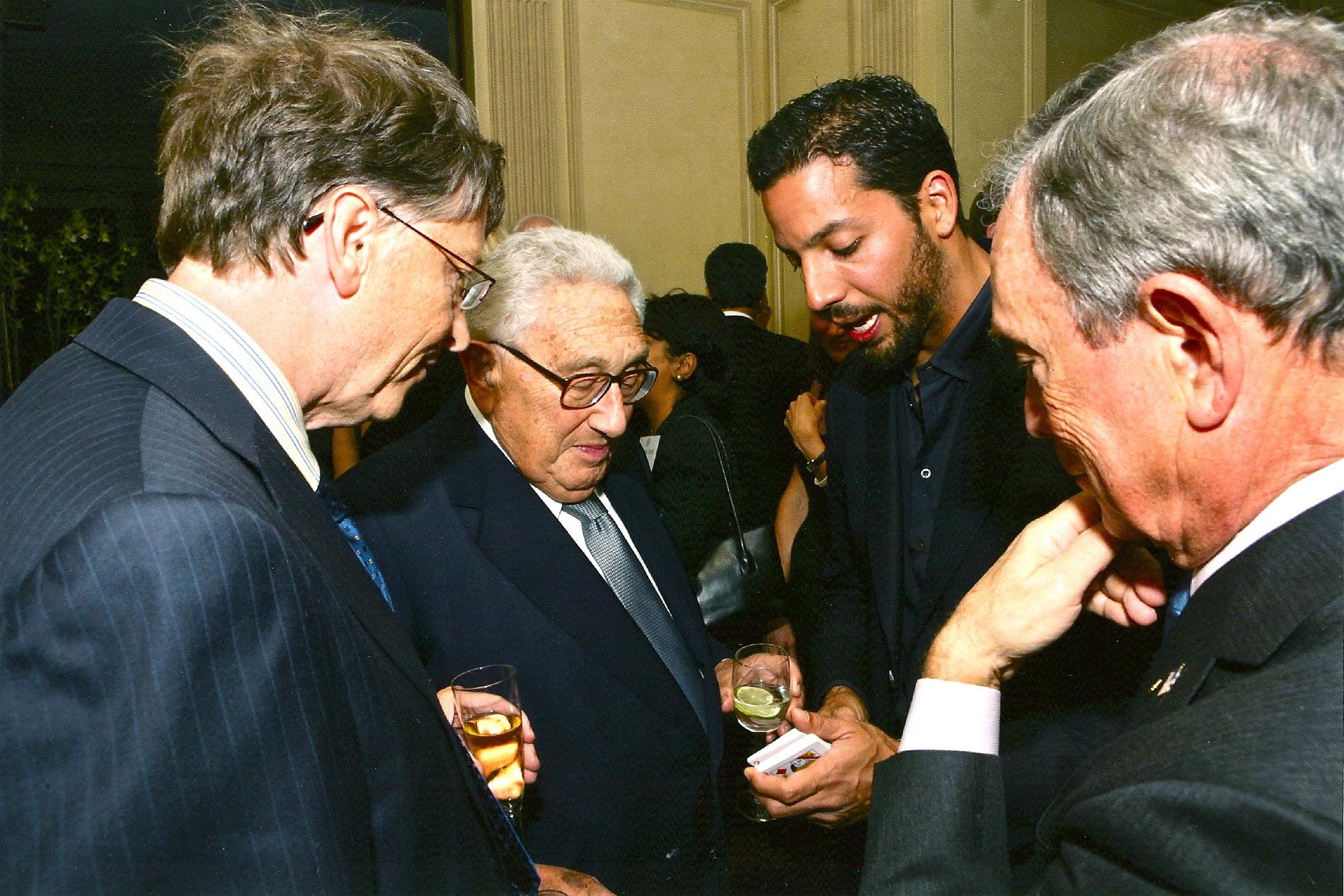David Blaine, Bill Gates, Henry Kissinger, Michael Bloomberg