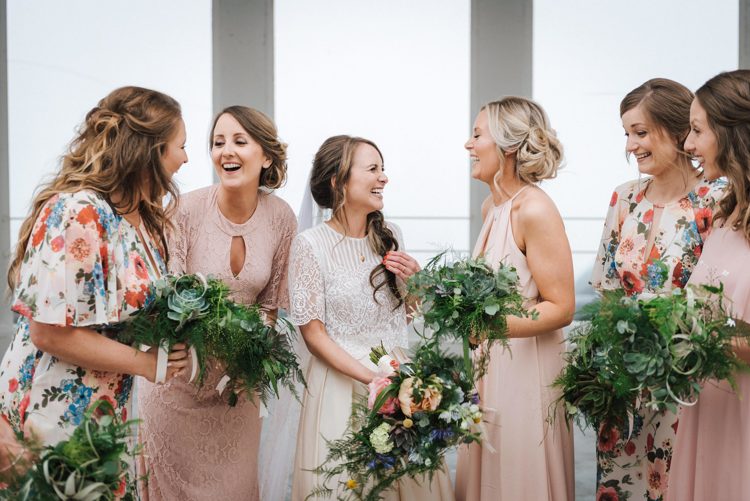 Bridal Party Hair by Becca Hunton, Photography by Sugarbird Photography