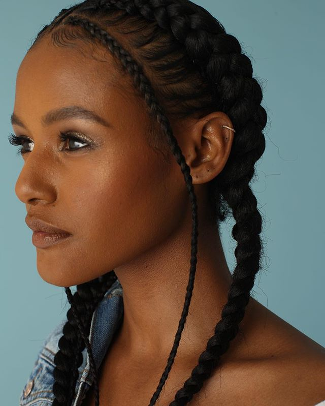 """We are proud to you to present our series """"BRAIDS"""". A selection of natural and especially curated photographs, featuring 100% #TOYOKALON TZ3 braid hair by @supremehairus . . . #braidstyles #braidedhairstyles #BRAIDSGANG #blackgirlhairstyles #blackhairmag #blackgirlmagic"""