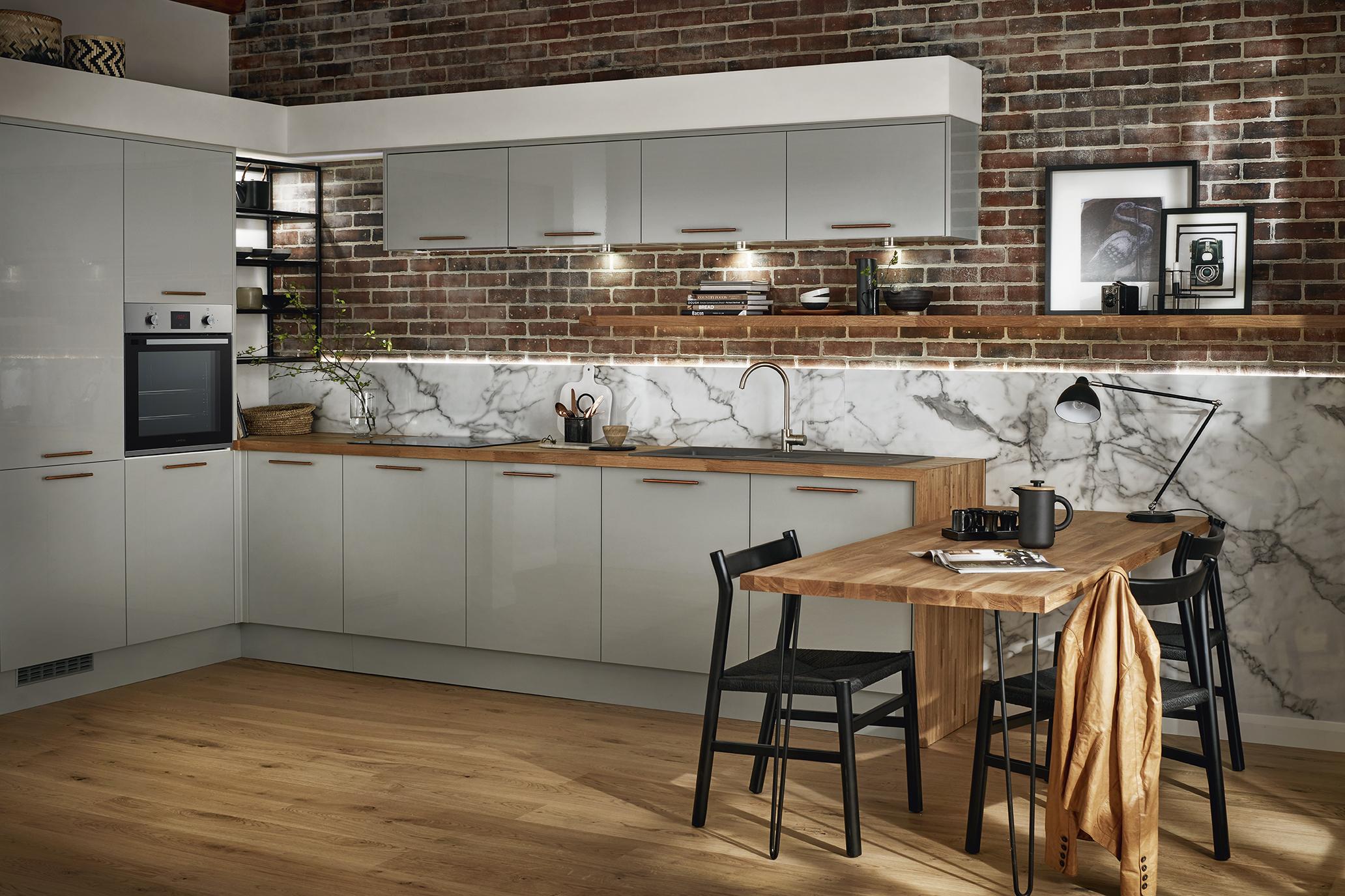 Timber worktop kitchen