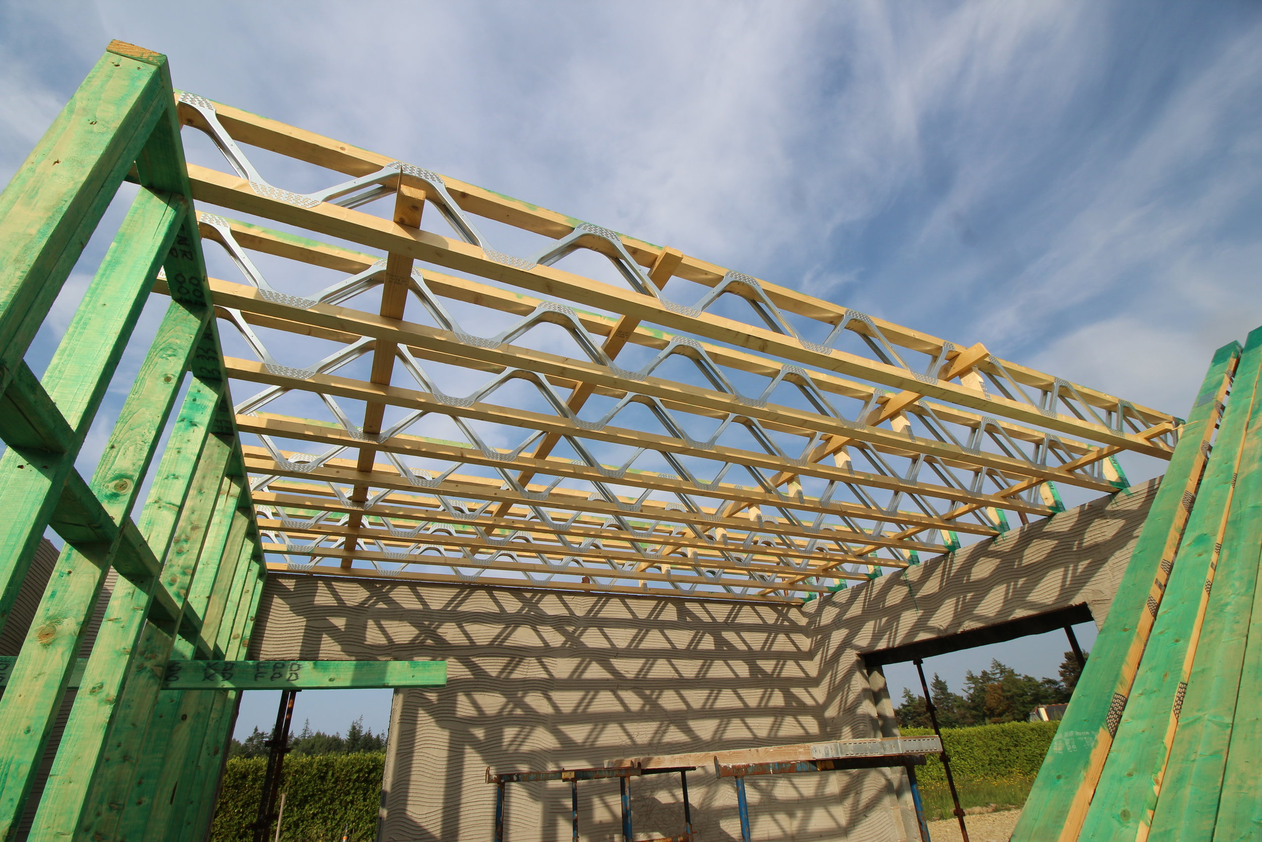 Eco Joists in place