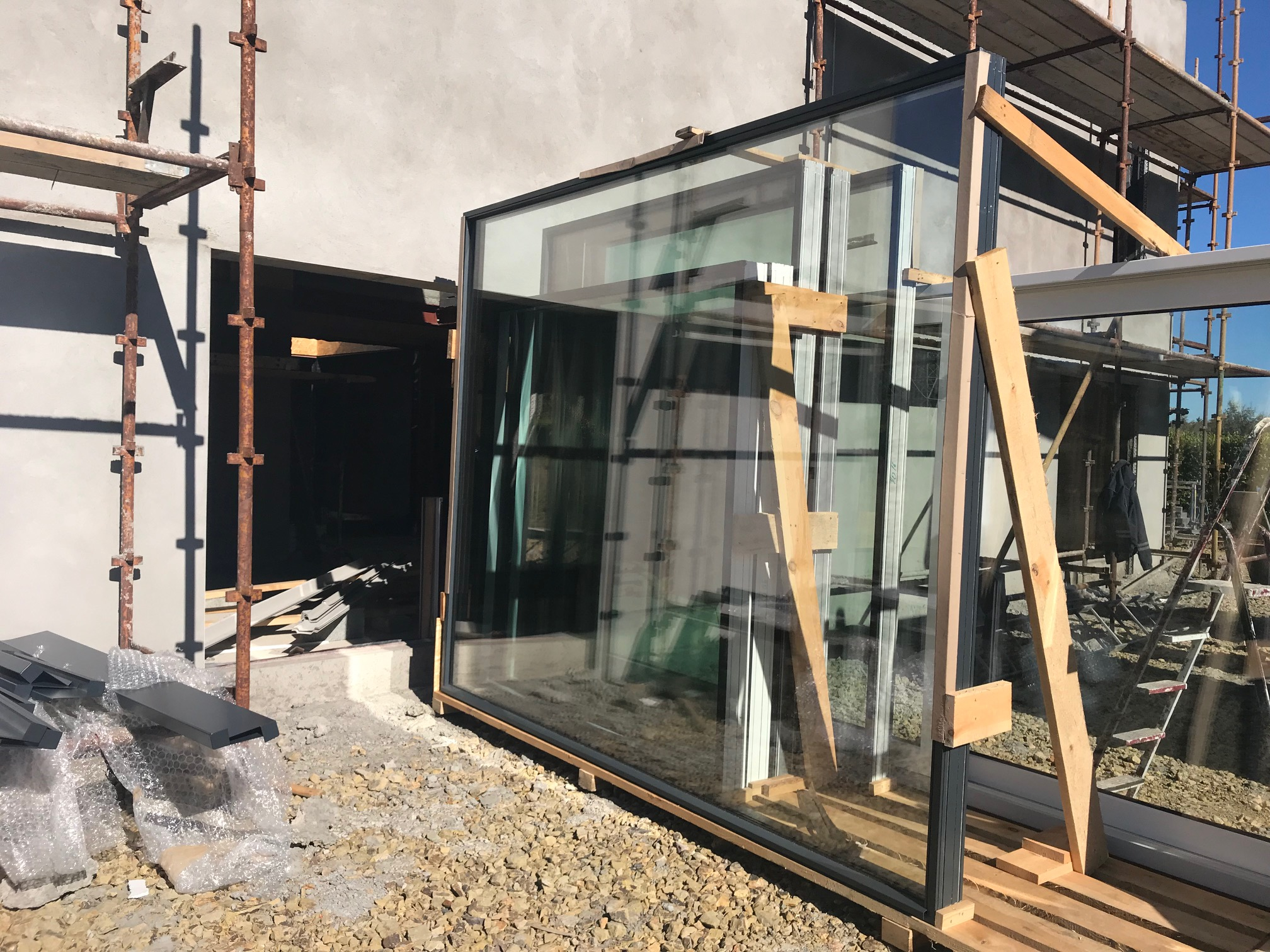 Delivery of one of our courtyard windows