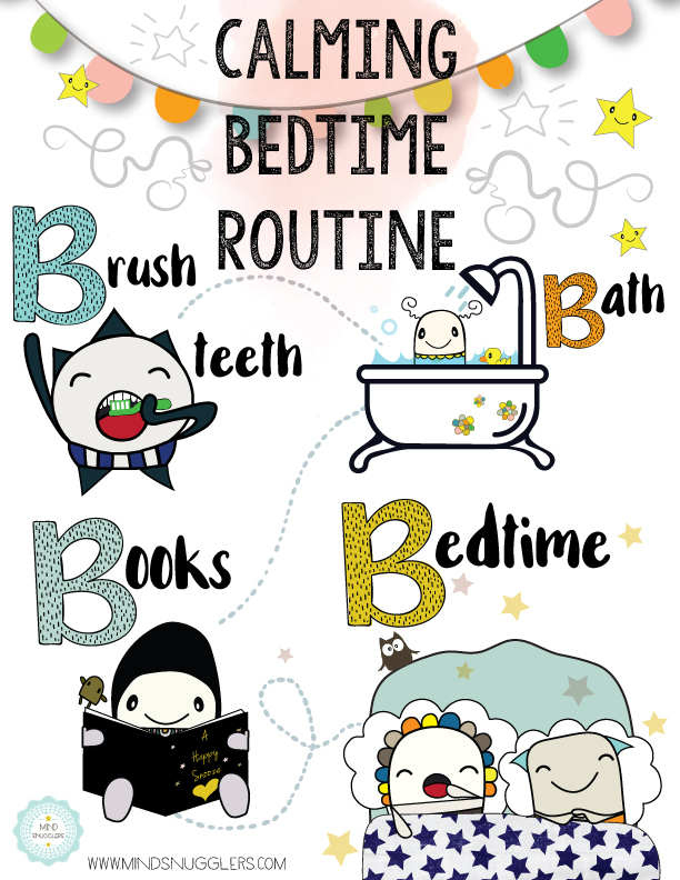 Visual bedtime routine chart
