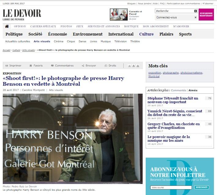 Le Devoir, April 28th 2017