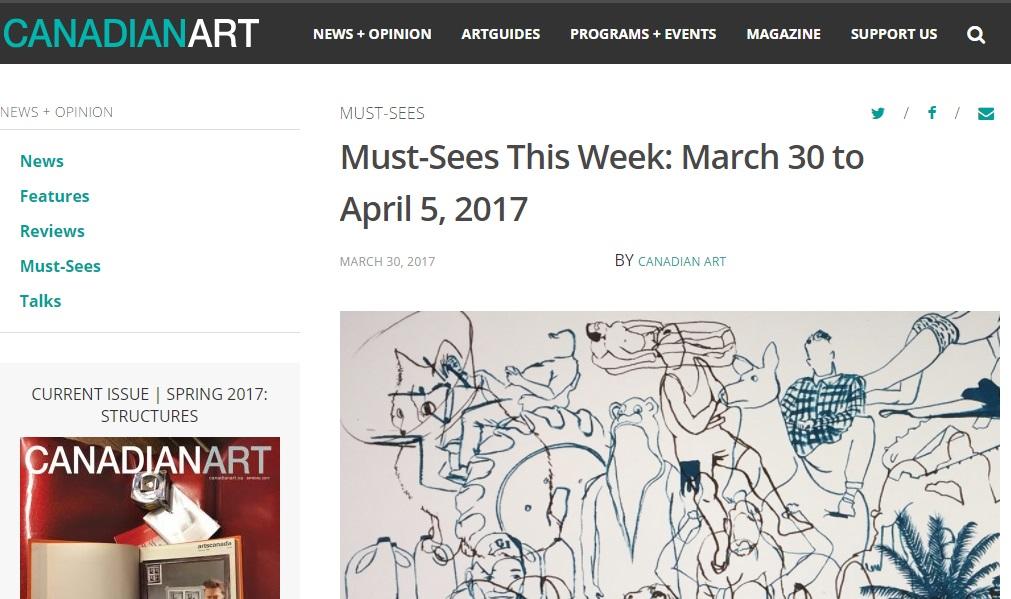 Canadian Art, mars 2017