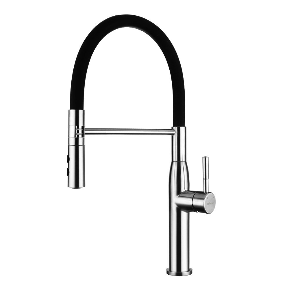 Yohom Stainless Steel and Black Faucet