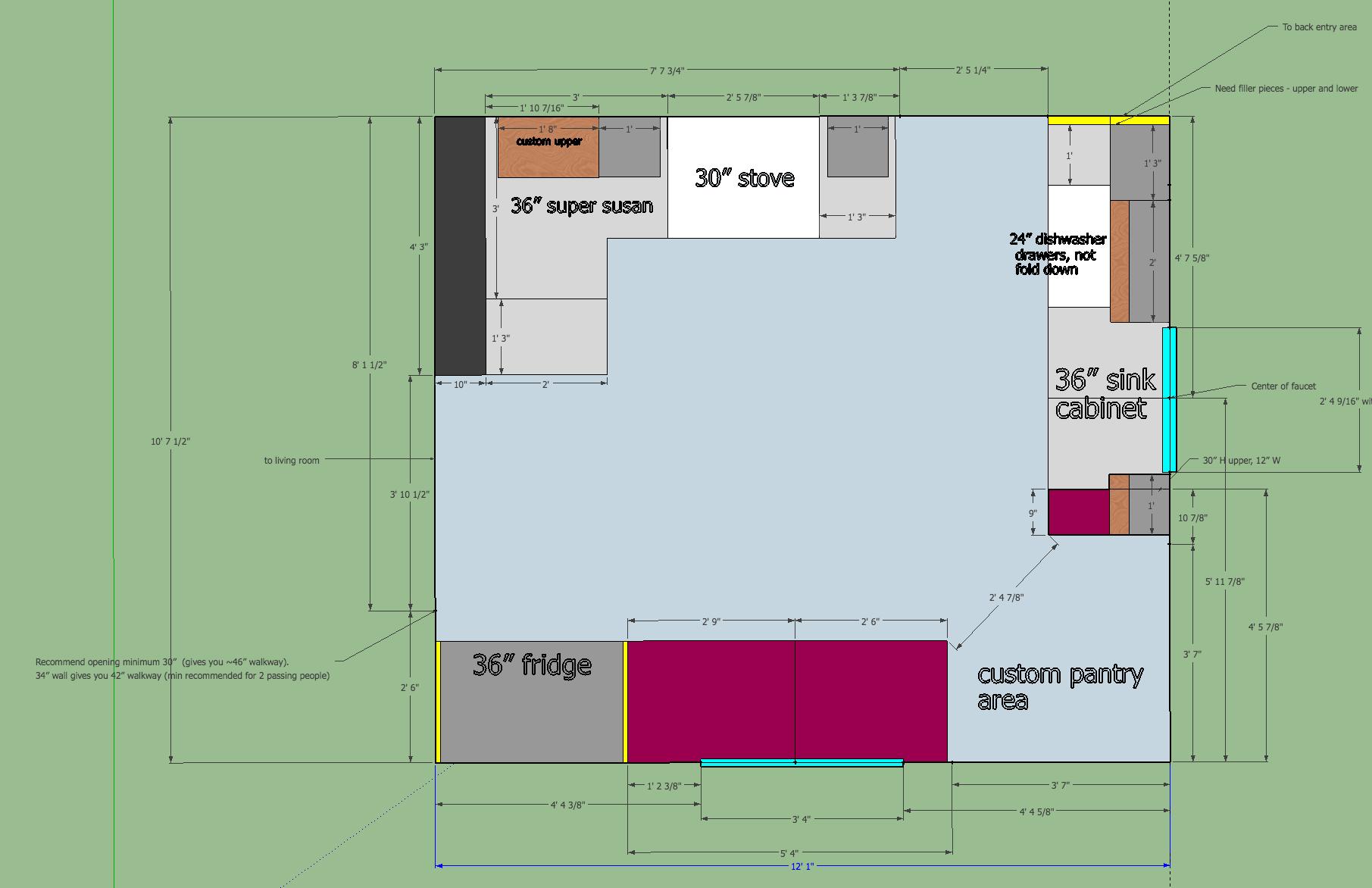 olliePop Design // Kitchen remodel plan