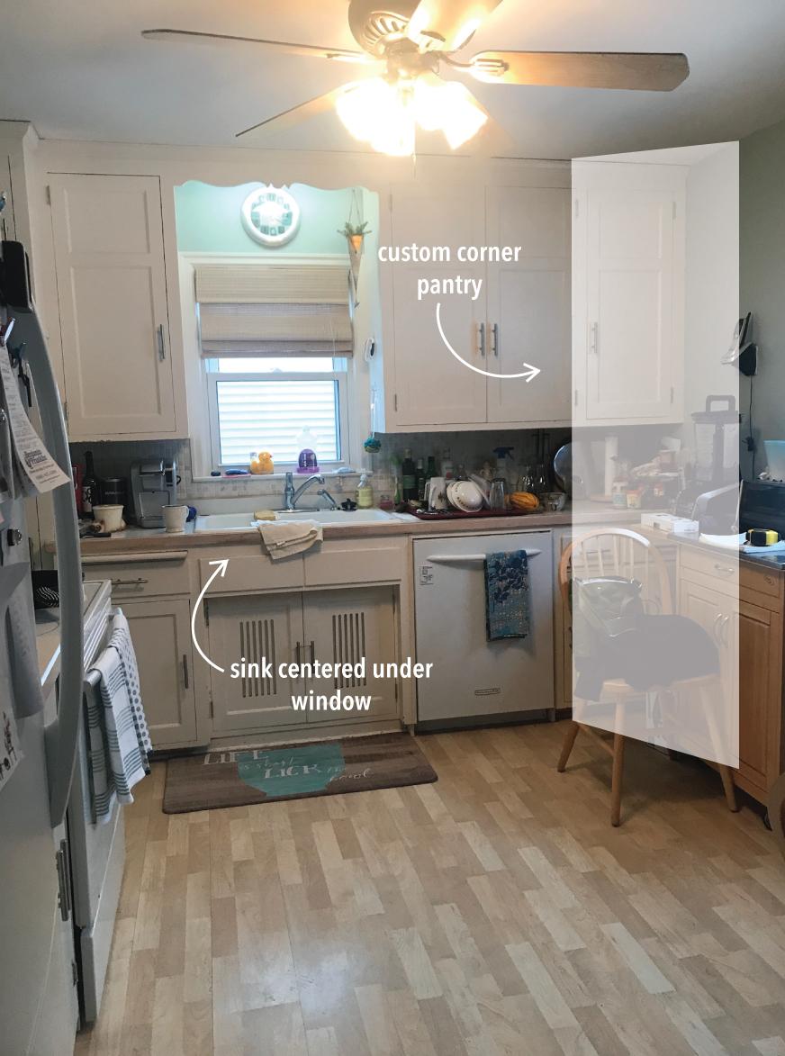 olliePop Design // Kitchen remodel b4