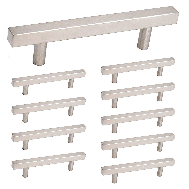 olliePop Design // Kitchen remodel : brushed nickel door pulls